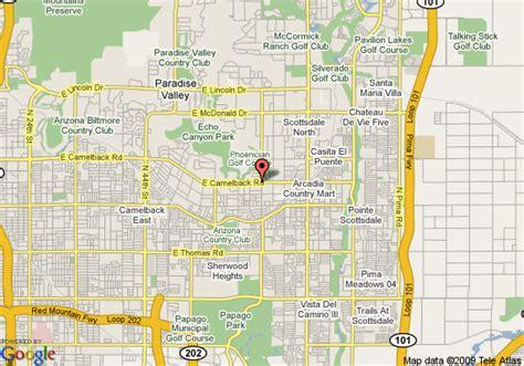 us map scottsdale arizona map of scottsdale camelback resort scottsdale