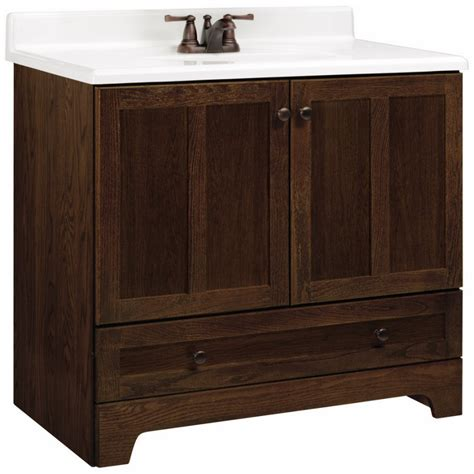 Lowes Bathroom Vanity Sinks Style Selections V28637 Liberton Cocoa Traditional Bathroom Vanity Common 36 In X 22 In