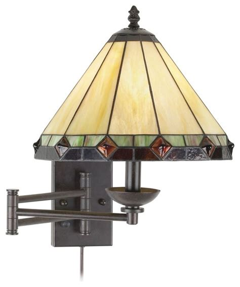 arts and craft lighting fixtures arts and crafts mission style glass panel