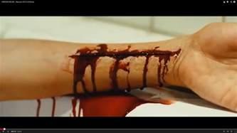 cutting wrists in bathtub hayley raman media studies re do of wrist for