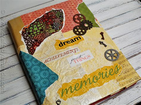 Decoupage Book Cover - book cover craft faux vinyl with mod podge