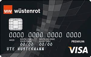 wüstenrot bank kreditkarte w 252 stenrot visa premium kreditkarte versicherungen