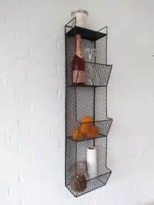 kitchen storage metal wire wall rack shelving display