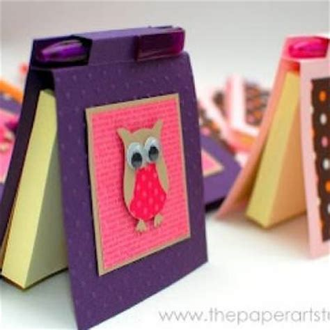Note Papercraft - diy post it notes holder paper craft tip junkie