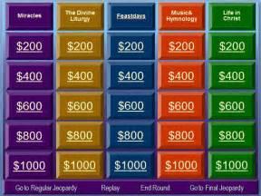 Bible Jeopardy Powerpoint Template by Orthodox Christian Education Orthodox Jeopardy