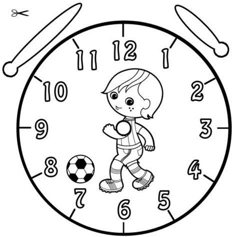 Kostenlose Vorlage Uhr Kostenlose Malvorlage Uhrzeit Lernen Ausmalbild Fu 223 Baller Zum Ausmalen