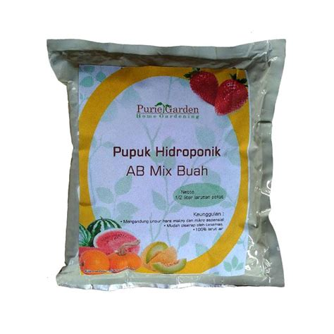 Pupuk Ab Mix Buah jual puriegarden pupuk hidroponik ab mix tanaman buah 250