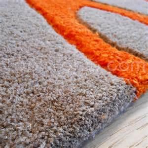 tapis salon orange chaios