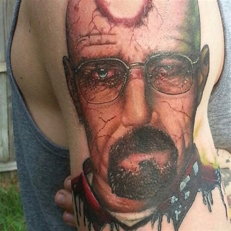 bryan cranston tattoo awesome realistic tattoos walter white
