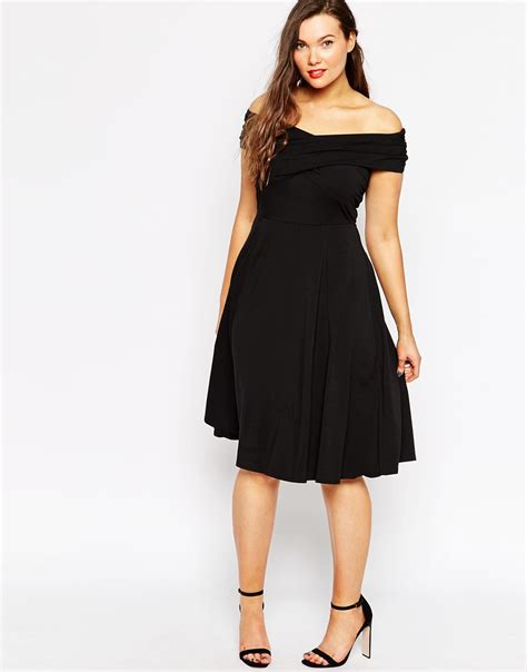 Asos Black Dress Curve