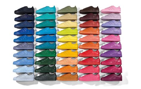super colorful adidas superstar supercolor 50 couleurs selon pharrell