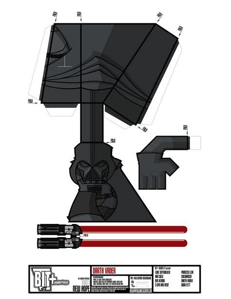 Papercraft Darth Vader - bit series 8 new darth vader sheet by
