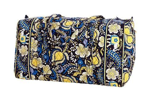 blue pattern vera bradley vera bradley large duffel bag ellie blue pattern new