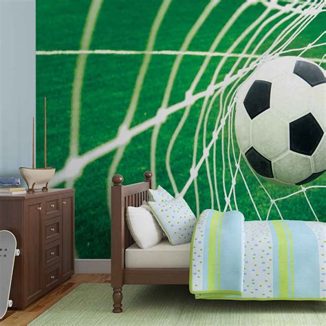 soccer murals for bedrooms soccer goal football wall mural photo wallpaper 015dk ebay