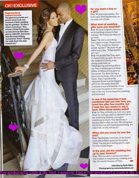 Longoria Gets Personal About Wedding by Longoria Tony Fotos De La Boda En Ok