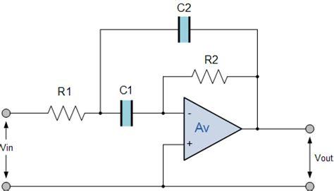 active band pass filter op amp band pass filter