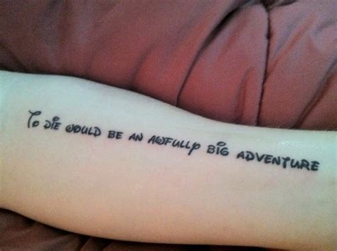 peter pan tattoo quotes tumblr 20 best quote tattoos inspired from walt disney movies