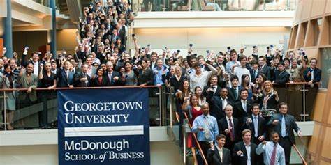 Georgetown Mcdonough Mba Employment Report by Georgetown S Mcdonough School Of Business