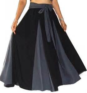 beautiful designer maxi skirt with belt