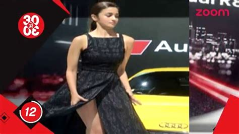 bollywood wardrobe malfunctions 2016 oops alia bhatt s wardrobe malfunction at auto expo 2016