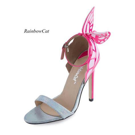 Peep Toe Stiletto Pumps butterfly womens high heel stilettos peep toe sandals