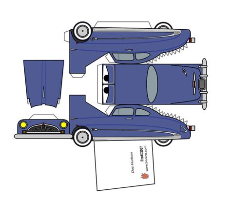 8 best images of printable paper cars paper plane