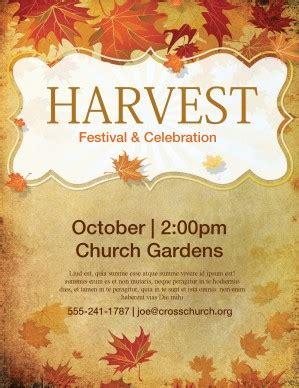 Church Harvest Festival Flyer Template Template Flyer Templates Harvest Festival Flyer Free Template