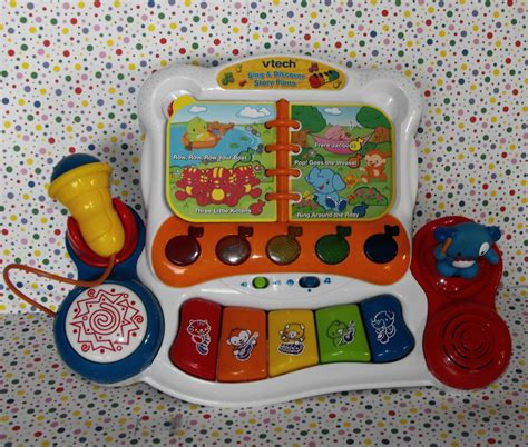 Vtech Sing And Discover Piano 6m Mainan Vtech T3010 2 vtech sing and discover story piano baby learning