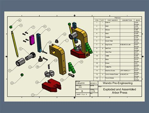 Home Autocad arbor press