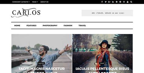wordpress themes free no ads carlos responsive wordpress magazine and blog theme