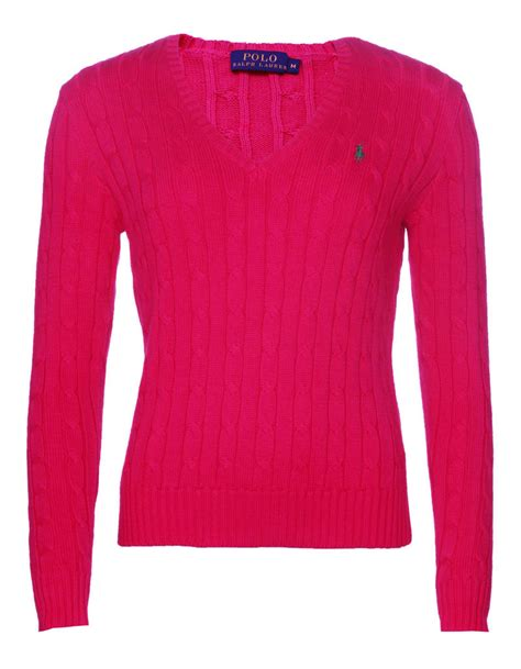 ralph v neck cable knit jumper womens ralph s polo cable knit v neck jumper