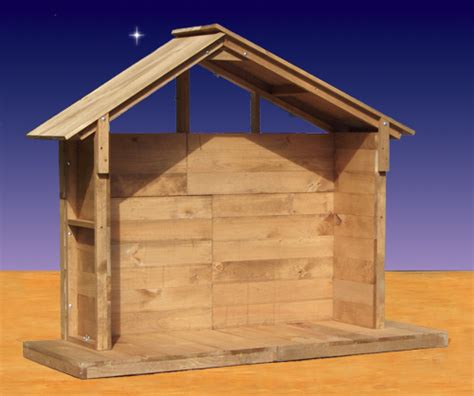 wood nativity stable outdoor 55 quot high