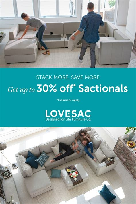 get up to 30 sactionals this president s day 36 - Lovesac Financing