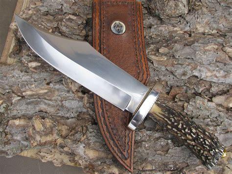 Handmade Bowie Knives - chuck stewart handmade big bowie treeman knives