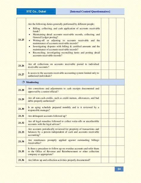 internal control questionnaires icqs