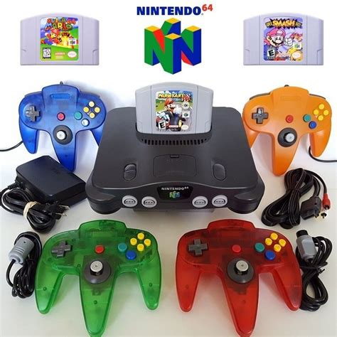 new n64 console n64 nintendo 64 console w new controllers mario kart