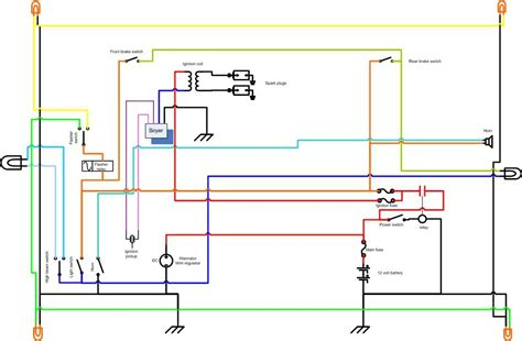 cafe bike wiring diagram wiring diagram gw micro
