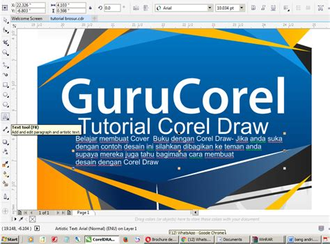 tutorial hand lettering corel draw 20 minutes easy ways to make cover book corel draw with