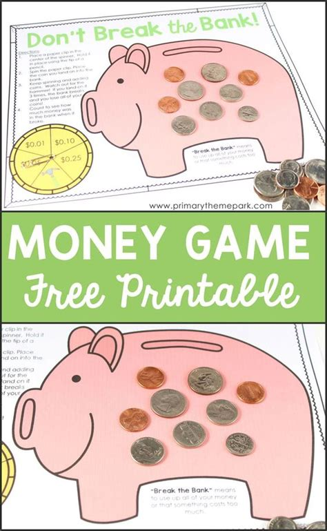 printable money games a well activities and other on pinterest