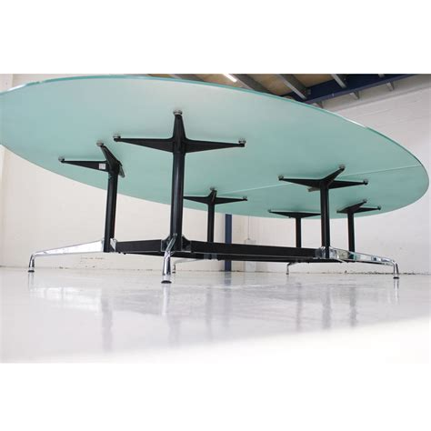 Glass Boardroom Tables Original Vitra Eames Glass Boardroom Table With Segmented Base Designer Meeting Table Glass