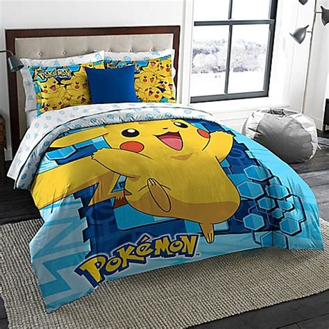 pokemon bed sheets pokemon big pika 3 piece comforter set in multi bed bath