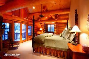 Cabin Bedroom Ideas traditional log home design ideas log cabin master bedroom