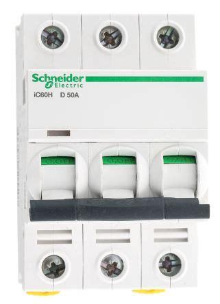 Mcb C120n Mini Circuit Breaker Schneider Acti9 3p 80a 3x80a a9f55350 acti 9 ic60h mcb mini circuit breaker 3p 50 a