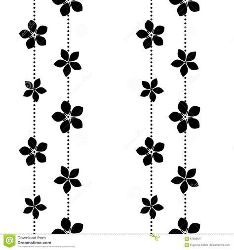 flower pattern vector black and white black and white vector flower pattern stock illustration