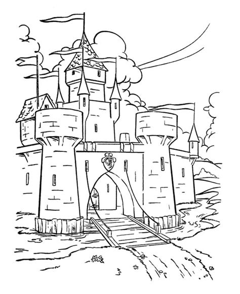 medieval castle coloring page free castles and dragons coloring pages