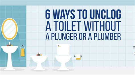what is the best way to unclog a bathtub drain how to unclog toilets when you re unequipped infographic