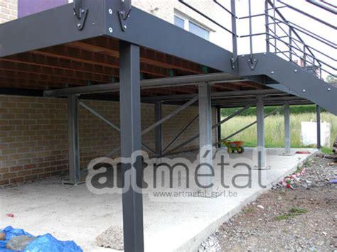 terrasse ossature métallique terrasse sur pilotis structure metallique nos conseils