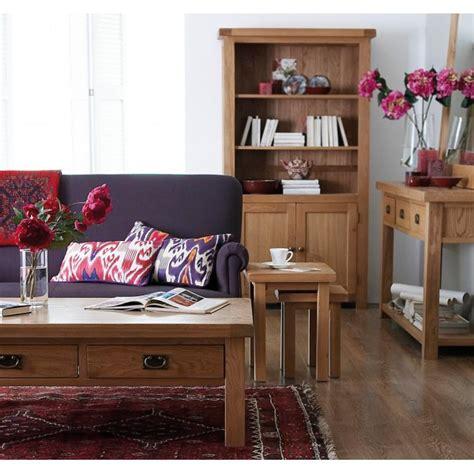 emporium home montreux solid oak glazed display cabinet