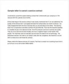 contract cancellation letter sle free maintenance agreement cancellation letter 28 images