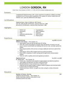 Exle Rn Resume by Registered Resume Sle My Resume